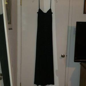 Long Sparkling Black Dress